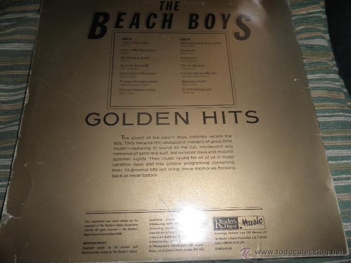 Discos de vinilo: THE BEACH BOYS - GOLDEN HITS - READER´S DIGETS RECORDS 1986 - EDICION INGLESA GGOM-A-9-180 - - Foto 3 - 52888304
