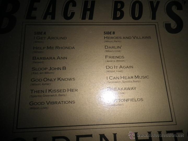 Discos de vinilo: THE BEACH BOYS - GOLDEN HITS - READER´S DIGETS RECORDS 1986 - EDICION INGLESA GGOM-A-9-180 - - Foto 4 - 52888304