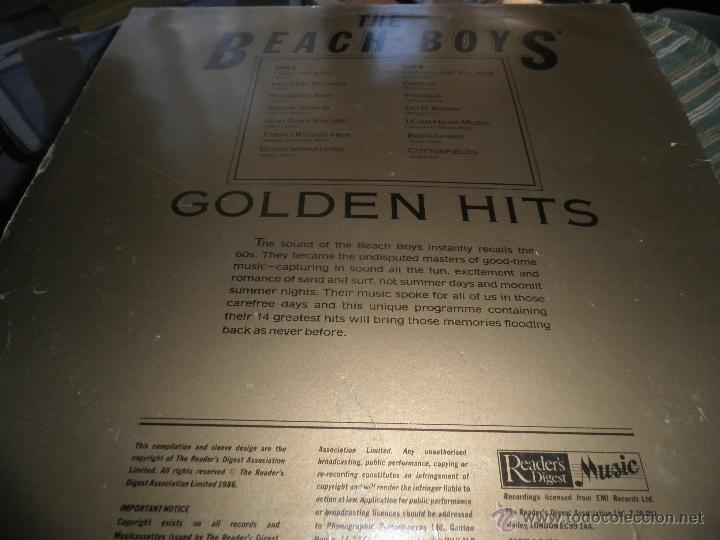 Discos de vinilo: THE BEACH BOYS - GOLDEN HITS - READER´S DIGETS RECORDS 1986 - EDICION INGLESA GGOM-A-9-180 - - Foto 10 - 52888304