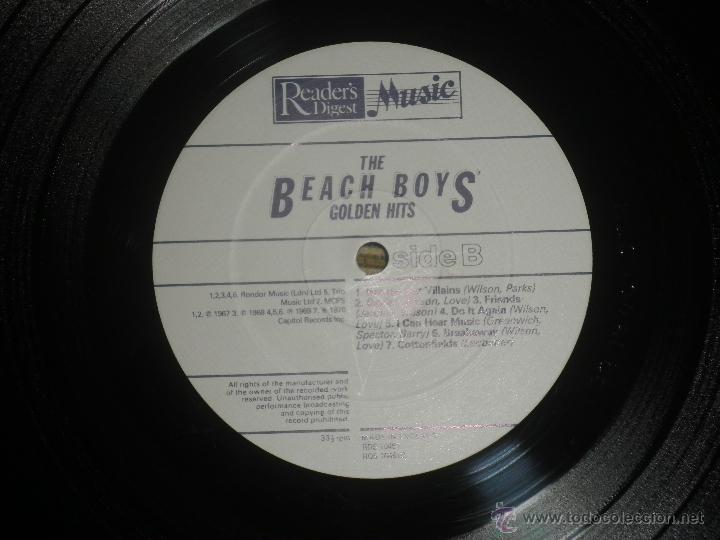 Discos de vinilo: THE BEACH BOYS - GOLDEN HITS - READER´S DIGETS RECORDS 1986 - EDICION INGLESA GGOM-A-9-180 - - Foto 20 - 52888304