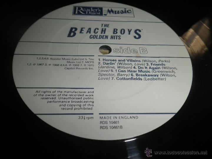 Discos de vinilo: THE BEACH BOYS - GOLDEN HITS - READER´S DIGETS RECORDS 1986 - EDICION INGLESA GGOM-A-9-180 - - Foto 21 - 52888304