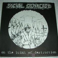 Discos de vinilo: SOCIAL GENOCIDE – ON THE BRINK OF DESTRUCTION - PEACE PUNK RECORDS JAPAN 1995. Lote 52892668