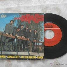 Discos de vinilo: LOS DRACS 7´EP BOOM, BOOM + 3 TEMAS (1965). Lote 52895355