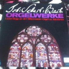 Discos de vinilo: JOHANN SEBASTIAN BACH - ORGELWERKE - LP - VINILO - ORBIS. Lote 52895939