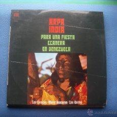 Discos de vinilo: LOS CARACAS , MARIO GUACARAN , LOS QUIRPA / ARPA INDIA PARA UNA FIESTA VENEZUELA LP PEPETO. Lote 52896310