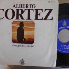 Discos de vinilo: ALBERTO CORTEZ-SINGLE MANOLO-1969. Lote 52896739