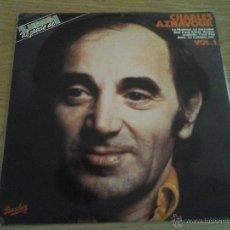 Discos de vinilo: CHARLES AZNAVOUR - FRANCES VOL. 1 - MADE IN SPAIN 1981 - DOBLE LP. Lote 52898363