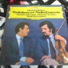 Discos de vinilo: JOHANNES BRAHMS - VIOLINKONZERT - ORCHESTRE DE PARIS - LP - VINILO - BARENBOIM - 1980 - ZUKERMAN. Lote 52899494