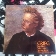 Discos de vinilo: GRIEG - GYNT - LIRICA - BLACK - ORQUESTA SINFONICA DE LONDRES - LP - VINILO - DECCA - 1974. Lote 52901903