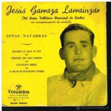 Discos de vinilo: JESÚS GARRAZA LARRAINZAR - CUANDO LA JOTA SE OYE / CUANDO LOS VEO LABRAR / CLAVELINA DOBLE+1 EP 195?. Lote 71015486