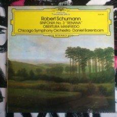 Discos de vinilo: ROBERT SCHUMANN - RENANA - OBERTURA MANFREDO - CHICAGO SYMPHONY ORCHESTRA - BARENBOIM - LP - VINILO . Lote 52902642