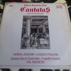 Discos de vinilo: JOHAM SEBASTIAN BACH - CANTATAS - ZÁDORI - POLGÁR - PAL NEMETH - LP - VINILO - HUNGAROTON - 1989. Lote 52902957