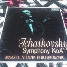 Discos de vinilo: TCHAIKOWSKY - MAAZEL - SYMPHONY Nº4 - VINILO - DECCA - 1965. Lote 52903212