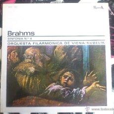 Discos de vinilo: BRAHMS - SINFONIA Nº4 - FILARMONICA DE VIENA - KUBELIK - ACE OF DIAMONDS - 1973 . Lote 52903579