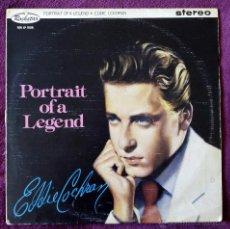 Discos de vinilo: EDDIE COCHRAN, PORTRAIT OF A LEGEND (ROCKSTAR 1984) LP UK. Lote 52911903