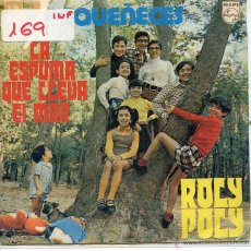 Discos de vinilo: PEQUEÑECES / LA ESPUMA QUE LLEVA EL MAR / ROLY POLY (SINGLE 1971). Lote 52913782