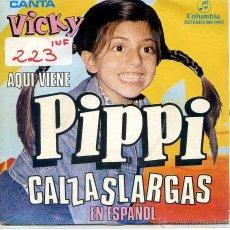 Discos de vinilo: PIPPI CALZASLARGAS (EN ESPAÑOL) SERIE TV / PIPPI CALZASLARGAS + 1 (CANTA VICKY) SINGLE 1975. Lote 52914072