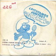 Discos de vinilo: LOS PITUFOS / NUESTRA ALEGRE CANCION / DUERMETE NIÑO / VENID A JUGAR (SINGLE PROMO 1981). Lote 52914135