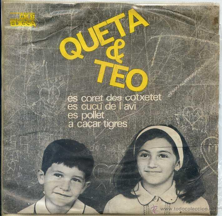 QUETA & CLEO / ES CORET DOS COTSETET / A CAÇAR TIGRES + 2 (EP 1964) (Música - Discos de Vinilo - EPs - Música Infantil)