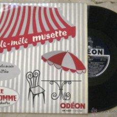Discos de vinilo: EMILE PRUD´HOMME ET SON OCHESTRE - PÊLE MÊLE MUSETTE. Lote 52915827
