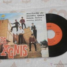 Discos de vinilo: LOS AGNIS 7´SG MUCHACHO DE NUESTRA EPOCA + 1 (1966) MUY RARO Y BUSCADO-EXCELENTE ESTADO-. Lote 52920172