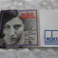 Discos de vinilo: MERCE MADOLELL 7´EP EL BAR DE TANTES NITS + 3 TEMAS (1966) NUEVO *INCLUYE HOJAS LETRAS Y CREDITOS*. Lote 52920966
