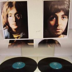 Discos de vinilo: THE BEATLES - WHITE ALBUM - 2 LP - ODEON 1968 SPAIN ORIGINAL - GATEFOLD + 4 FOTOS - N MINT. Lote 52485049