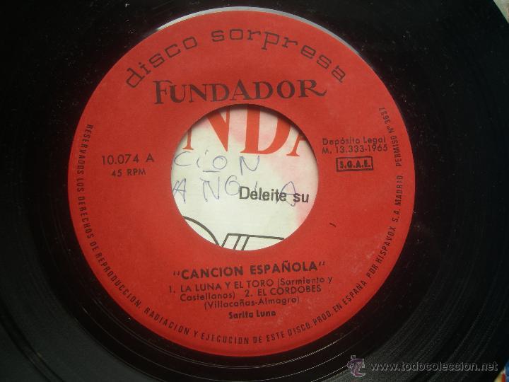 Discos de vinilo: single FUNDADOR CON CARATULA CANCION ESPAÑOLA EP 1965 VER FOTOS - Foto 2 - 52924909