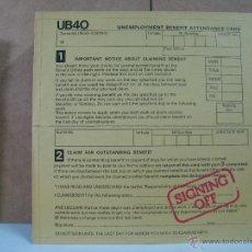 Discos de vinilo: UB40 - SIGNING OFF - GRADUATE-ARISTON UB-1 - 1988 LP+MAXI EDICION ITALIANA - DIFICIL. Lote 52946334