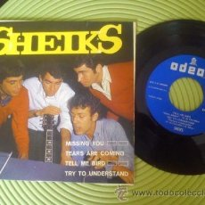 Discos de vinilo: SHEIKS - EP GARAGE ROCK PORTUGAL MISSING YOU / TEARS ARE COMING / TELL ME BIRD / TRY TO UNDERSTAND. Lote 52946678
