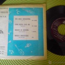 Discos de vinilo: CONJUNTO LOS CORALES CANTA - EP BERTA FM 68.181 PROMO MUY RARO. Lote 52947497