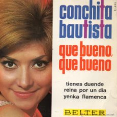 Discos de vinilo: CONCHITA BAUTISTA - EUROVISION 65, EP, QUE BUENO, QUE BUENO + 3, AÑO 1965. Lote 52955531