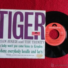 Discos de vinilo: BRIAN AUGER AND THE TRINITY - TIGER // SINGLE // 1968 // POLYDOR // VINILO A ESTRENAR. Lote 52956052