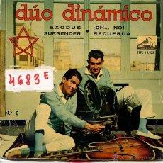 Discos de vinilo: DUO DINAMICO / EXODUS / SURRENDER / ¡OH...NO! + 1 (EP 1961). Lote 52962392