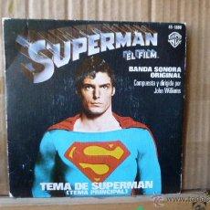 Discos de vinilo: SUPERMAN -BANDA SONORA -SINGLE. Lote 52970480