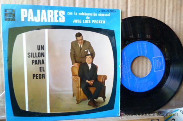 ANDRES PAJARES CON LA COLABORACION ESPECIAL DE JOSE LUIS PECKER -UN SILLON PARA EL PEOR- (Música - Discos de Vinilo - EPs - Bandas Sonoras y Actores)