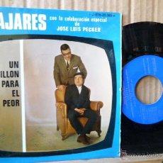Discos de vinilo: ANDRES PAJARES CON LA COLABORACION ESPECIAL DE JOSE LUIS PECKER -UN SILLON PARA EL PEOR-. Lote 52975206