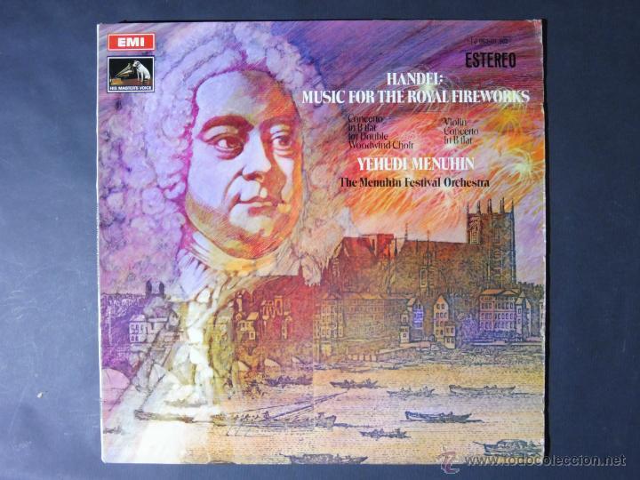 DISCO VINILO HANDEL MUSIC FOR THE ROYAL FIREWORKS EMI LA VOZ DE SU AMO 1970 DCL028 (Música - Discos - Singles Vinilo - Clásica, Ópera, Zarzuela y Marchas)