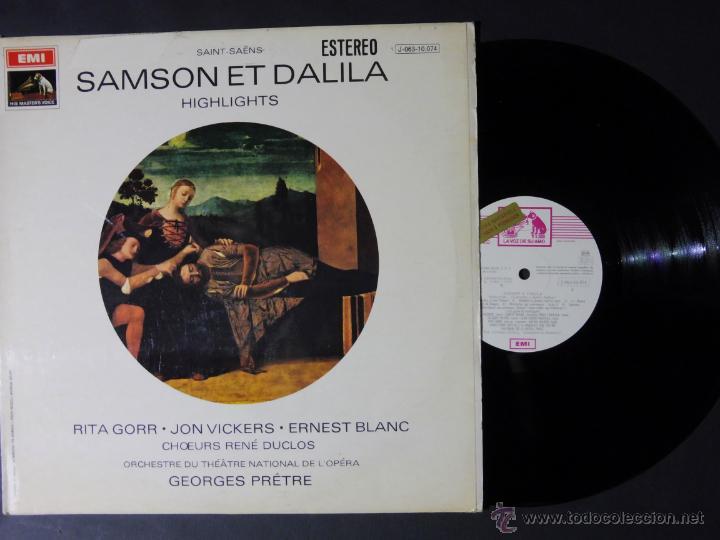 DISCO VINILO SAMSON ET DALILA HIGHLIGHTS EMI LA VOZ DE SU AMO 1970 DCL030 (Música - Discos - Singles Vinilo - Clásica, Ópera, Zarzuela y Marchas)