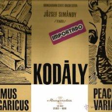 Discos de vinilo: LP ZOLTAN KODELY : PSALMUS HUNGARICUS / PEACOCK VARIATIONS . Lote 52983104