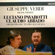 Discos de vinilo: LP LUCIANO PAVAROTTI & CLAUDIO ABBADO : GIUSEPPE VERDI -PAGINE INEDITE . Lote 52983136