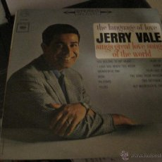 Discos de vinilo: LP-JERRY VALE SINGS GREAT LOVE SONGS OF THE WORLD COLUMBIA 8843 USA 1963 STEREO. Lote 52986391