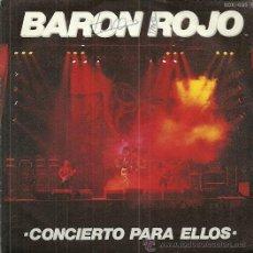 Discos de vinilo: BARON ROJO SINGLE SELLO ZAFIRO AÑO 1984 EDITADO EN ESPAÑA, PROMOCIONAL, CARA B: TIERRA DE VANDALOS . Lote 52988446