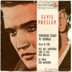 Discos de vinilo: ELVIS PRESLEY - QUIEREME COMO TU QUIERAS - EP SPAIN 1962 - RCA VICTOR 3-20460. Lote 53002199