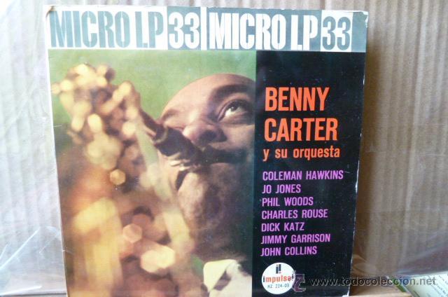 BENNY CARTER Y SU ORQUESTA MICROLP A 33RPM (Música - Discos de Vinilo - EPs - Jazz, Jazz-Rock, Blues y R&B)