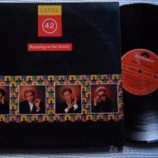 Discos de vinilo: LEVEL 42 - '' RUNNING IN THE FAMILY '' LP SPAIN. Lote 53011995