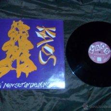 Discos de vinilo: KAOS SOAK AKI NON SE RINDE NINGUEN MLP MX 12 1992 CAN RECORDS GALIZA PUNK EN EXCELENTE ESTADO. Lote 53013181