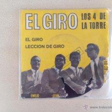 Discos de vinilo: LOS CUATRO DE LA TORRE - SINGLE. Lote 53017137