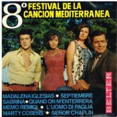 Discos de vinilo: MADALENA IGLESIAS / SABRINA / MEMO REMIGI +1 - 8º FESTIVAL DE LA CANCIÓN MEDITERRANEA - EP 1966. Lote 53019768