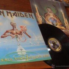 Discos de vinilo: IRON MAIDEN LP SEVENTH SON OF A SEVENTH SON MADE IN SPAIN 1988 ENCARTES . Lote 53032197